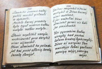 Laimutės Vilčinskienės išsaugota seniai dovanų gauta giesmių knygelė – ne tik brangus prisiminimas.