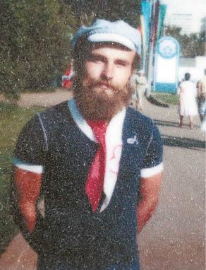 Keliautojas Maskvoje 1985 metais.