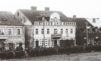 Populiariausias tarpukario Marijampolėje galėjo būti Vailokaičiams priklausęs Ūkio banko filialas.
