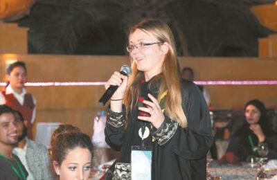 Konferencijoje Saudo Arabijoje, atstovaujant pasaulinei skautų organizacijai.