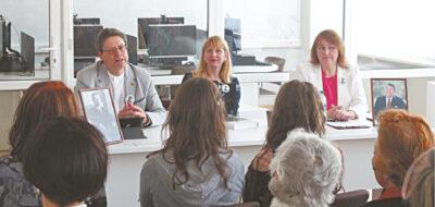 Diskusijos iniciatoriai ir lektoriai: Seimo narys, teisininkas dr. Stasys Šedbaras, istorikė dr. Ingrida Jakubavičienė, rašytoja Loreta Jastramskienė.