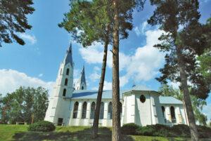 Jono Reitelaičio suprojektuota ir statyta bažnyčia (manoma, kad kitos panašios Lietuvoje nėra...).