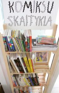 Draugystės bibliotekoje esanti komiksų lentyna traukia ir vaikus, ir suaugusius.