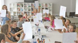 Vasaros pradžioje surengtos kūrybinės dirbtuvės sulaukė didžiulio vaikų susidomėjimo.