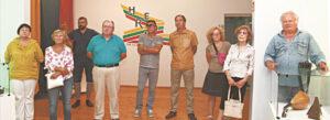 """""""Muziejų kelio"""" renginiu susidomėję marijampoliečiai galėjo susipažinti ir su paroda """"100 m. Herojai Marijampolėje""""."""
