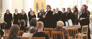 Česlovo Sasnausko choro ypatingasis koncertas Šv. Kotrynos bazilikoje Sankt Peterburge.