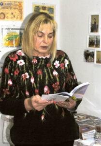 A. Blažienės eiles skaitė aktyvi bendruomenės narė Rima Vyšniauskienė.