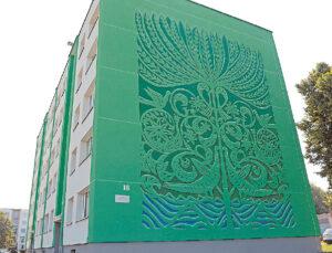 Renovuotas namas R. Juknevičiaus g. Nr. 16 simpatiškiausiu šalyje buvo pripažintas dėl jo šoninį fasadą puošiančio Gyvybės medžio. Ieva – ne tik šio sumanymo autorė, bet kartu su pagalbininkais ir įgyvendino jį.