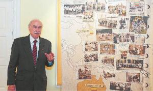 Leonas Narbutis išsamiai pristatė parodą, atsakė į marijampoliečių klausimus, diskutavo.