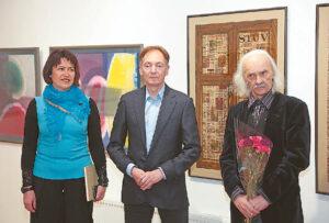 Parodą pristatė Jolita Nalevaikienė ir Eugenijus Nalevaika. Šalia – Osvaldas Jablonskis, kuris yra daugelio Lietuvos akvarelininkų mokytojas. Intensyviai dirbantis meistras dalyvauja ir šioje parodoje.