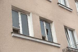 Buto, kuriame gyvena Kęstutis, languose žiojėja skylės.