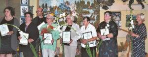 Apdovanotieji padėkos raštais: kuriantys, liaudies meną puoselėjantys...