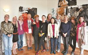 Pirmajam susitikimui prisiminti: marijampoliečiai su Bergiš Gladbacho menininkais.