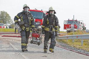 Kasmet ugniagesiams rengiamos pratybos.