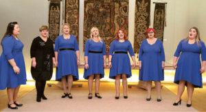 Daukšių skyriaus moterų ansamblis gyvuoja dar neseniai, bet pasirodė brandžiai.