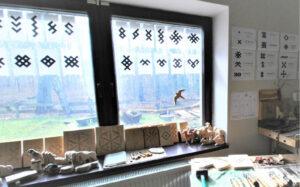 Šviesiose, erdviose amatų centro patalpose – visos sąlygos mokytis ir dirbti.
