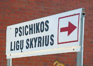 Psichikos ligų skyriuje pacientui bus suteikta pagalba.