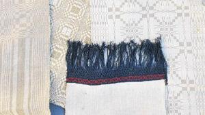 Šventiniai rankšluosčiai būdavo siuvinėjami, puošiami pinikais, kutais ar vąšeliu nertais mezginiais.