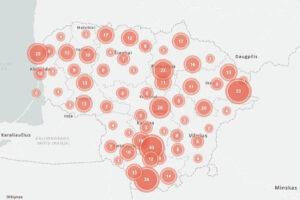 Lietuvos renovacijos žemėlapis. Nuotrauka iš BETA archyvo