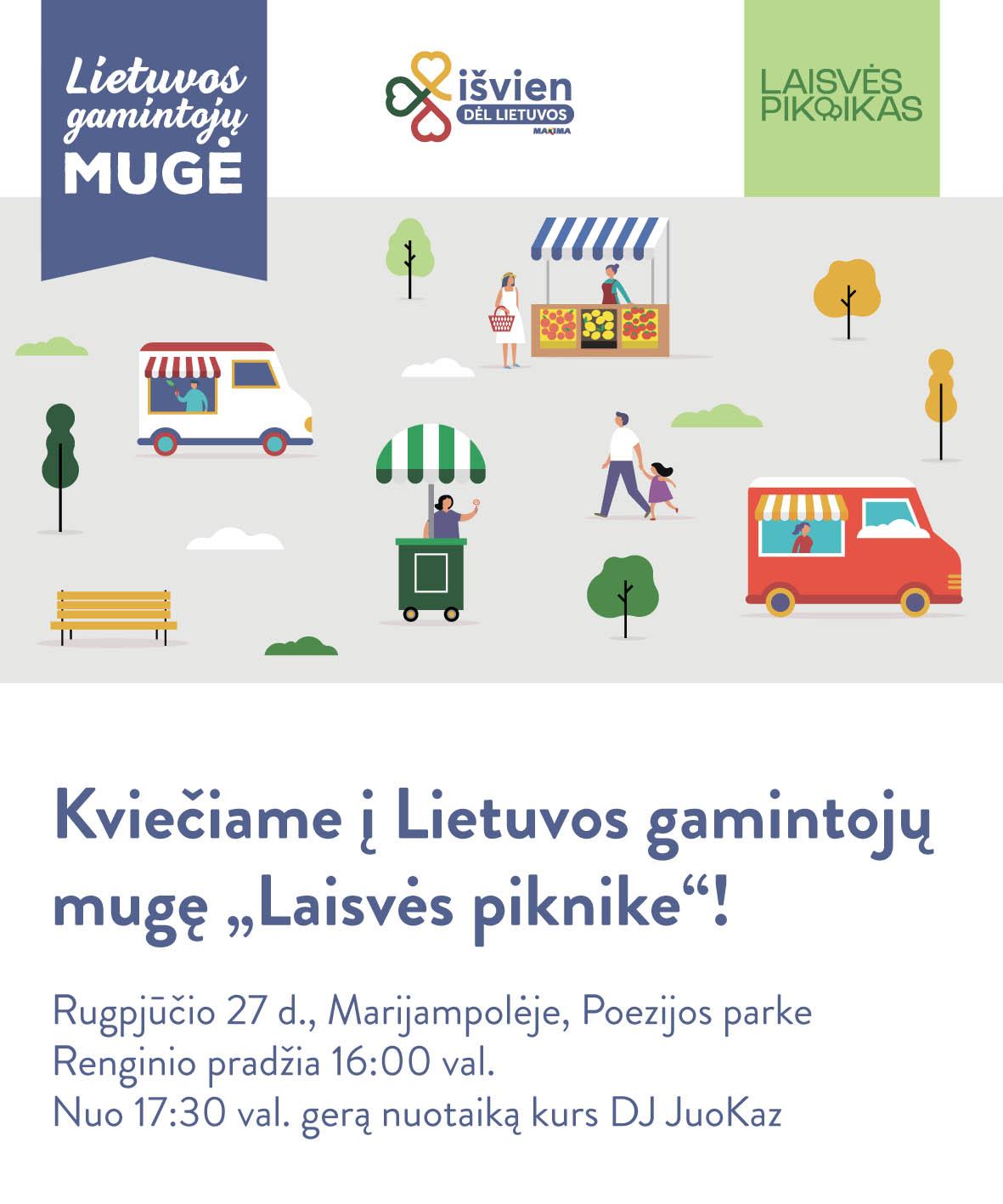 """Idėjų festivalyje netrūks ir skonių: """"Maxima"""" kviečia geriau pažinti Lietuvos gamintojus"""