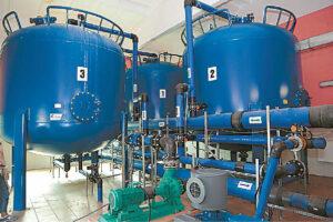 J. Borisevičiaus gatvės vandenvietėje veikia uždara vandens filtravimo sistema, kurioje vanduo valomas deguonį į talpas įpurškiant specialiais aparatais.