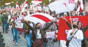Mitingai Baltarusijoje tęsiasi