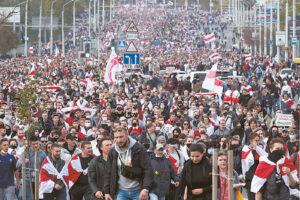 Tūkstantiniai mitingai Baltarusijoje