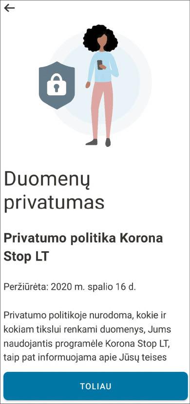 """Marijampolės ligoninės direktorius ragina gyventojus aktyviau naudotis programėle """"Korona Stop LT"""" ir ramina, kad asmens duomenys joje tvarkomi teisėtai ir atsakingai."""