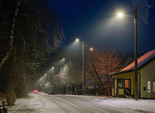 Į gatves vakarais išeiti vilioja ir naujas LED gatvių apšvietimas.