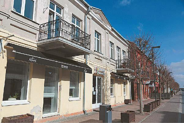 Miesto centre esančioje Gedimino gatvės atkarpoje – daug istorinių pastatų.