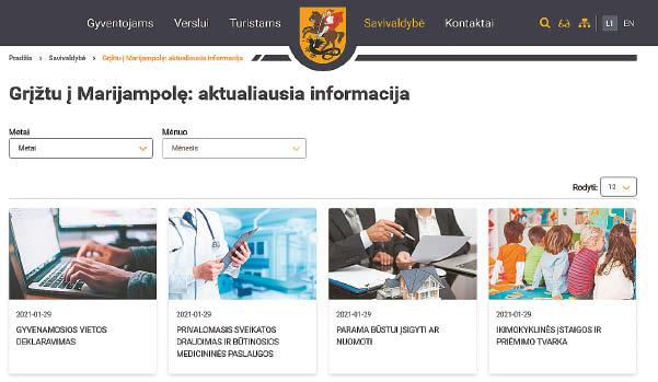 """Visą aktualią informaciją grįžtantys emigrantai gali rasti Marijampolės savivaldybės tinklalapio skiltyje """"Grįžtu į Marijampolę""""."""