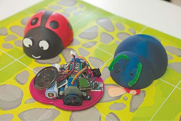 Boružėlės – kuriamo žaidimo elementai. Jas konstruojant įsisavinamos dizaino ir kitos su technologijomis susijusios žinios.