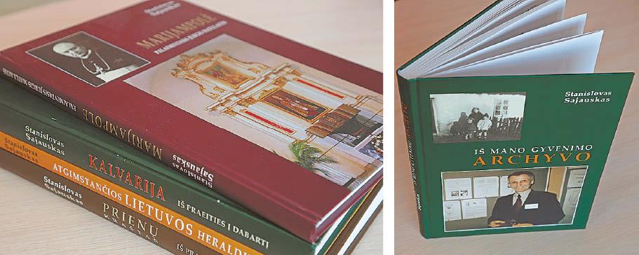 """Čia toli gražu ne visi didžiausi jo leidiniai... ir """"gyvenimo archyvai""""."""
