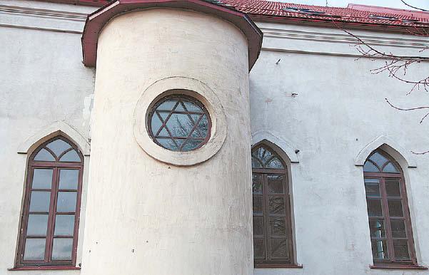 Žieminės sinagogos fragmentas.