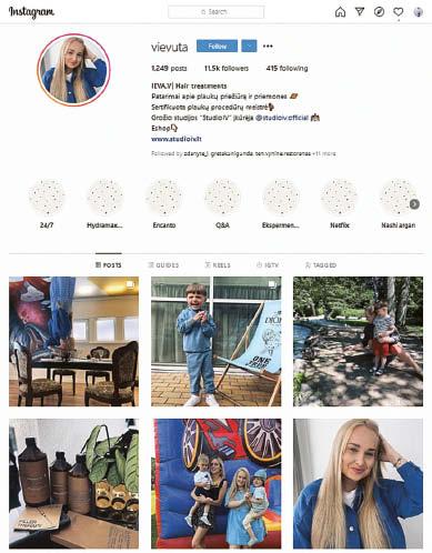 """Ievą Vasiliauskaitę, grožio studijos """"Studio IV"""" įkūrėją, instagrame stebi daugiau nei 11 tūkst. žmonių, tačiau savęs influencere ji nevadina. Mieliau prisistato turinio kūrėja."""