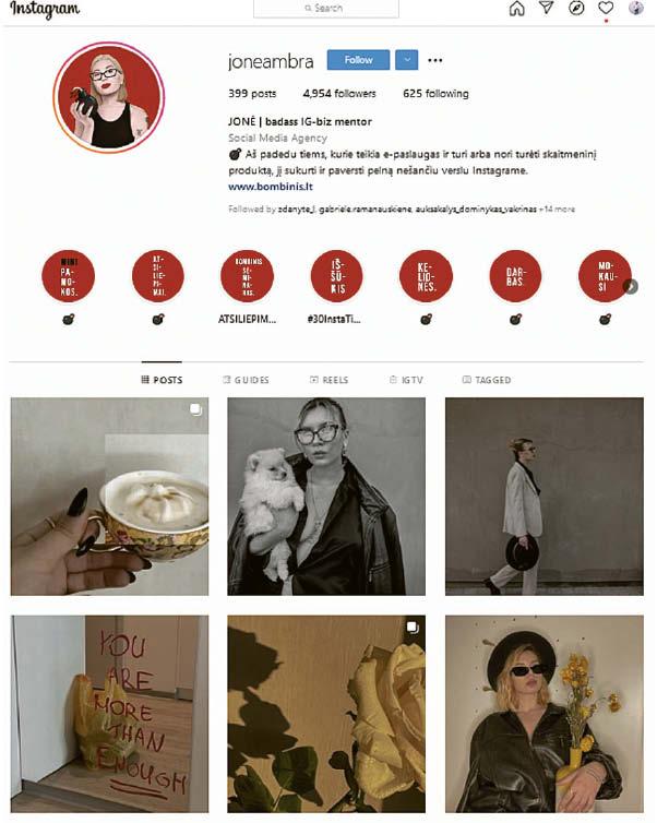 """Socialinių tinklų marketingo konsultantė marijampolietė Jonė Ambrasaitė sako, kad efektyviausia reklama yra nuoširdi. Visgi vartotojus ji įspėja """"Instagram"""" vertinti kritiškai, kaip ir bet kurį kitą medijų turinį.   Nuotrauka iš pašnekovės albumo"""