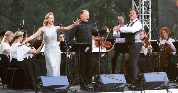 Baigiamajame koncerte – žinomų operečių garsai.