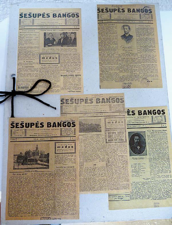 """""""Šešupės bangos"""" leistos Marijampolėje 1925–1928 metais."""
