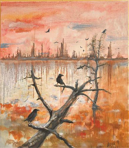 Vienas Ilonos Mikolainienės darbų.  Autorės nuotraukos