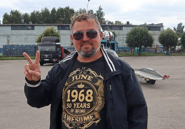 Iš Ukrainos į Lietuvą automobilio įsigyti atvažiavęs Sergėjus.