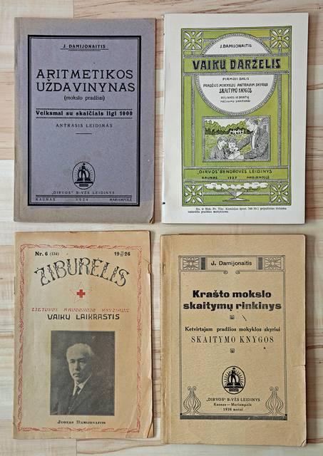 """Leidiniai buvo įvairūs – ant Lietuvos Raudonojo Kryžiaus vaikų laikraščio """"Žiburėlis"""" ."""